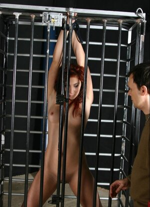 Submissive kitten and moreover pretty friend with red hair take element in BDSM action