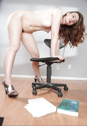 Young and fresh female is tired of studying because her trimmed honey pot needs to be fondled