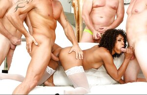 Sex between the cutest black Sexually available mom in the world Misty Stone and also white men